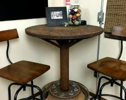 industrial bar table feat