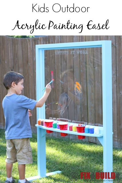 kids outdoor acrylic easel for painting, Fix This Build That
