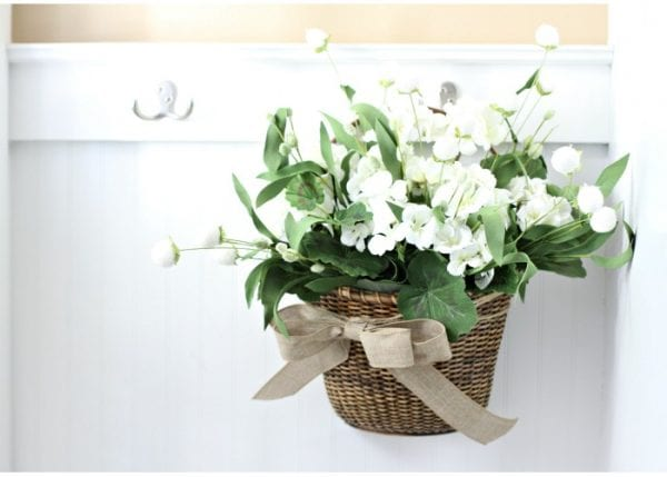 summer flower basket instead of a wreath, Love of Home