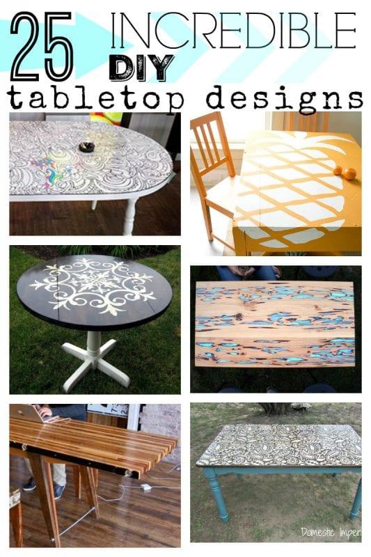 Remodelaholic 25 Incredible Diy Tabletop Designs