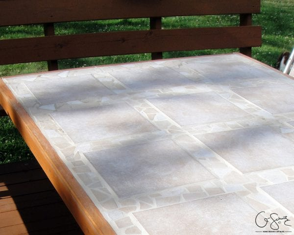 Diy Tiled Patio Table Top By Q Schmitz Featured On Remodelaholic