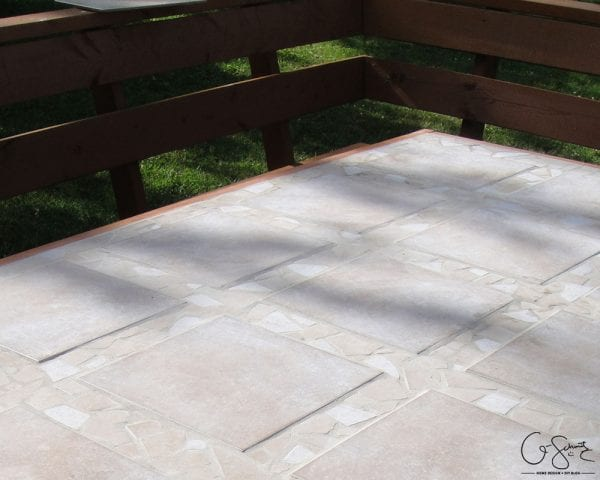 Build Your Own Tiled Patio Table Top With Beautiful Mosaic Tile Edges By  Q Schmitz