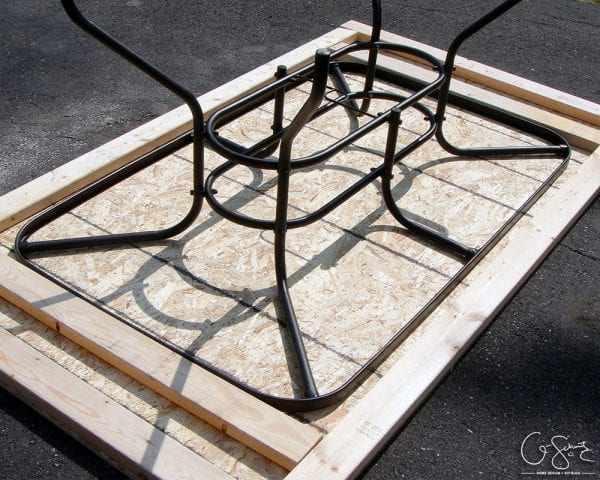 Salvage A Patio Table By Building A New Top For It With Tile And Mosaic Tile