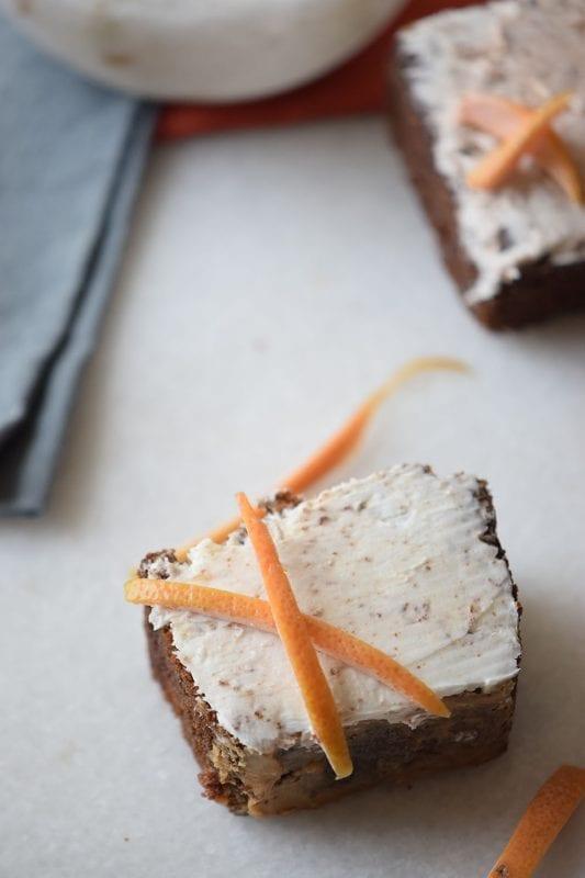 Orange Chocolate Cake Squares