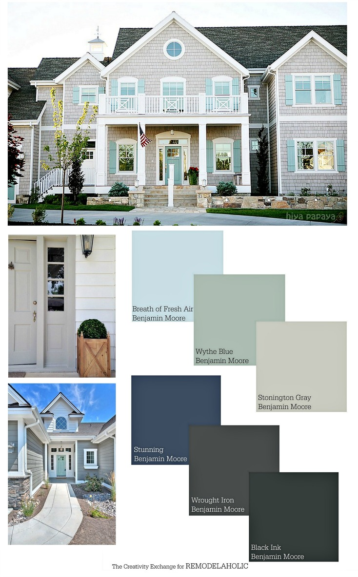 Remodelaholic exterior paint colors that add curb appeal for Can you use exterior paint inside a house