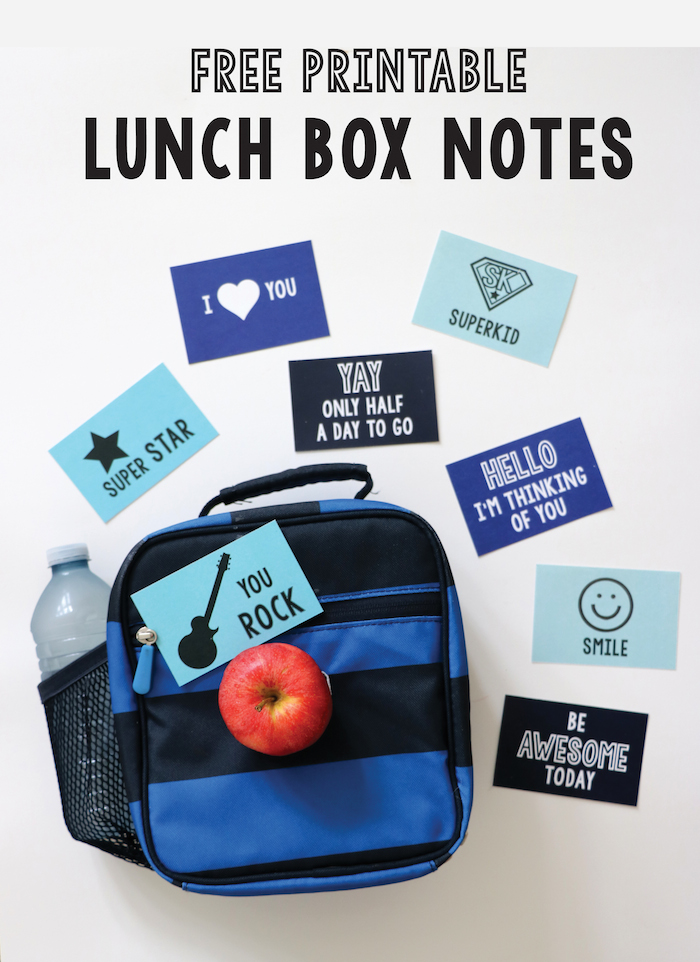 Send your kids back to school with a bit of extra love in their backpacks -- these easy and free printable lunch box notes! This set of 8 will brighten their day and put a smile on their faces -- especially if you pack an extra treat ;) Get the free printable at Remodelaholic.com