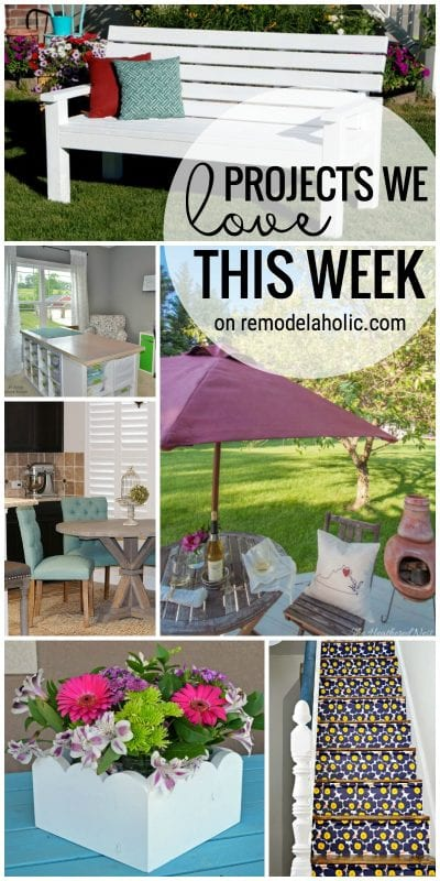 Friday Favorites Scalloped Centerpiece and an Outdoor Bench on remodelaholic.com