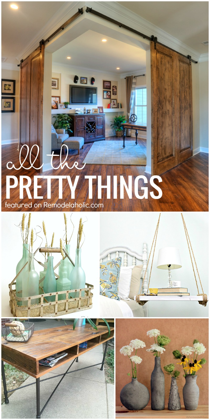 Friday Favorites - corner barn doors uses for recycled glass and more! Get & Remodelaholic | Friday Favorites: Barn Door Corner Office and ... pezcame.com