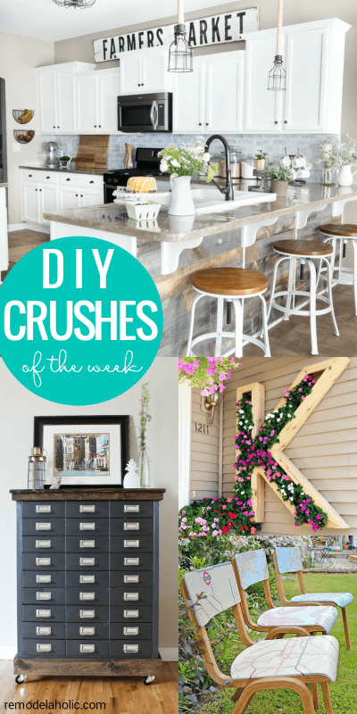 Friday Favorites - farmhouse kitchen, monogram planter and more at Remodelaholic.com