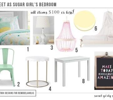 Sweet As Sugar Girl's Room Design Ideas (On a Budget!)