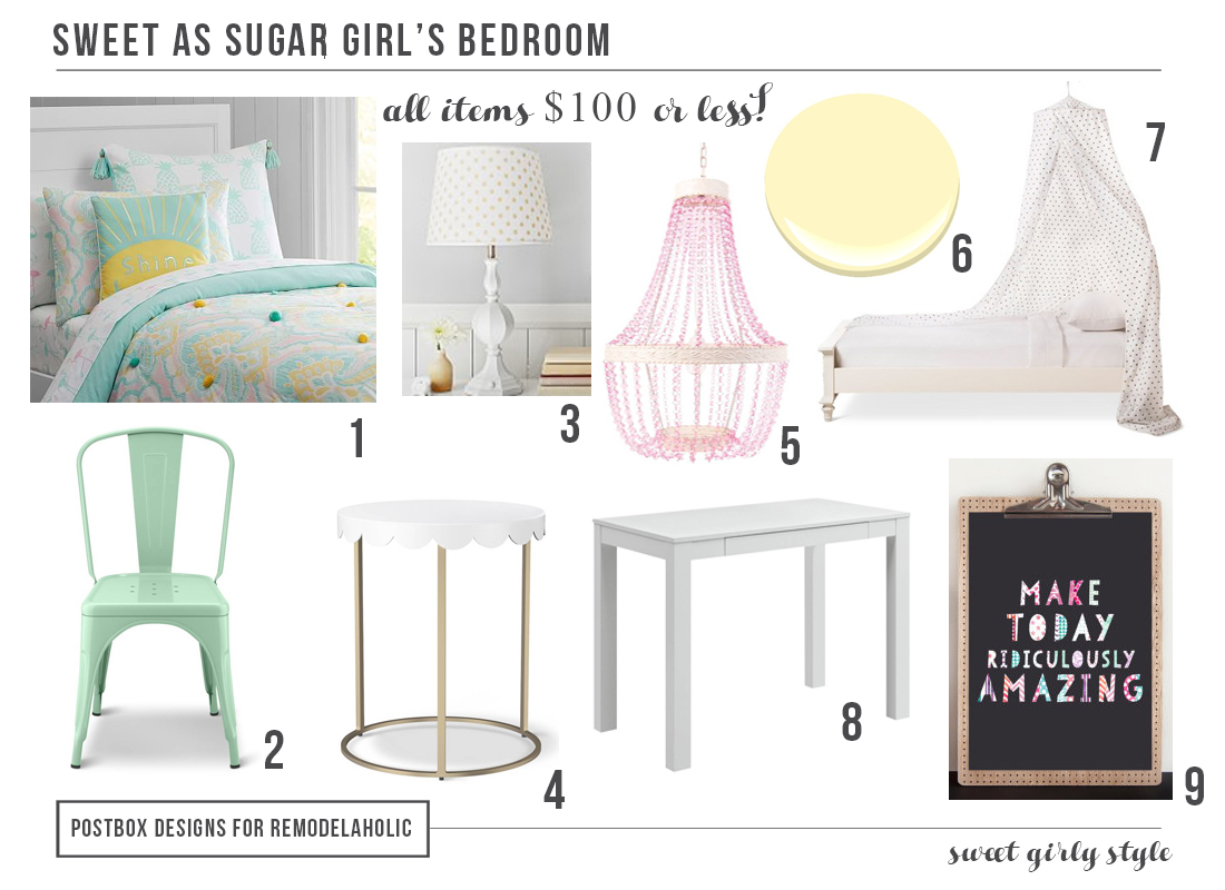 Girl Bedroom Mood Board by Postbox Designs