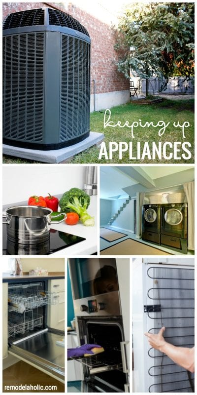 Learn how to keep up your appliances to make them last longer via remodelaholic.com