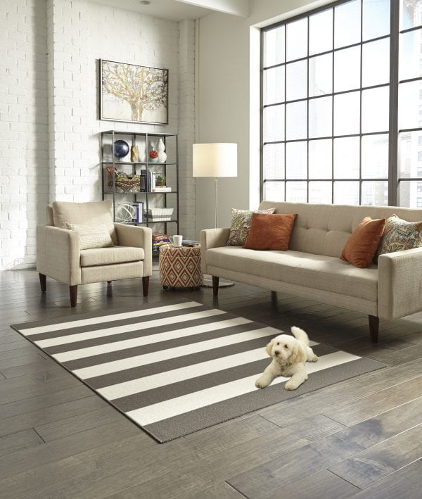 Maples Rugs Cabana Stripe 5x7 River Birch