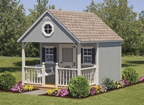 Tips and inspiration for a charming and cute child's playhouse via Remodelaholic.com