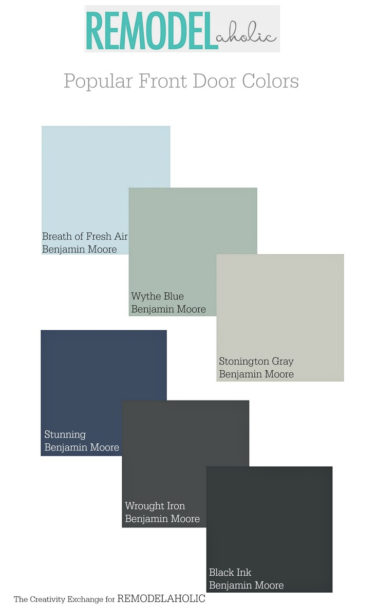 Benjamin moore front door paint colors - Popular Front Door Paint Colors Remodelaholic