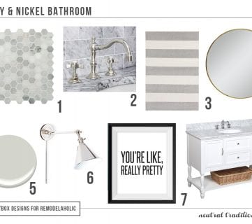 Polished Nickel & Gray Bath with $10 (and Under!) Tile Round-Up
