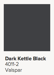 Valspar Dark Kettle Black