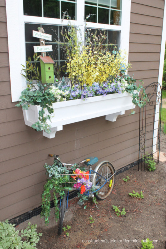 Add Curb Appeal With Diy Window Box Planters And Faux Flowers, Construction2style For Remodelaholic