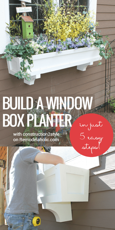 how to build a DIY window box planter