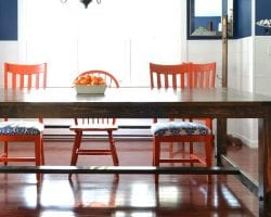 diy farmhouse table building plan and tutorial @Remodelaholic feat