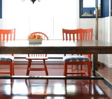 DIY Farmhouse Table with Handmade Details + Building Plan