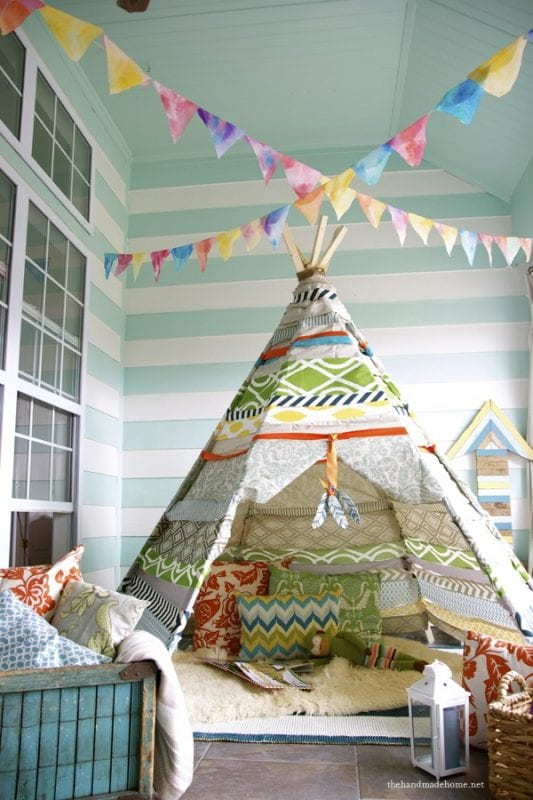 diy no-sew teepee, The Handmade Home