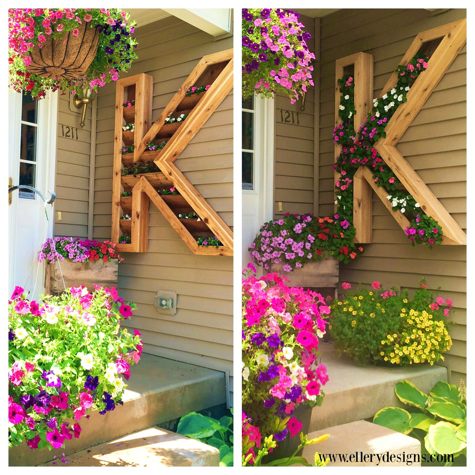 Diy Outdoor Monogram Planter By Ellery Designs On @Remodelaholic