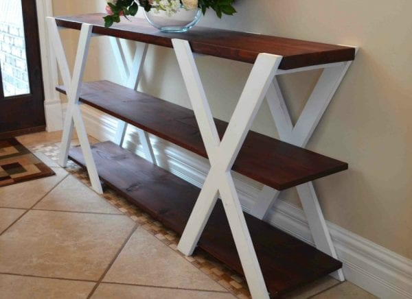 double x console table feat