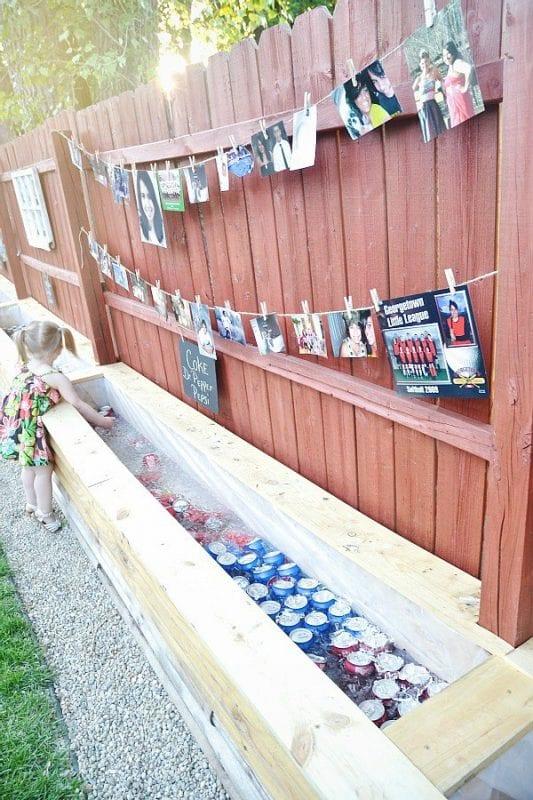 flower bed drink cooler trough via Liz Marie Blog