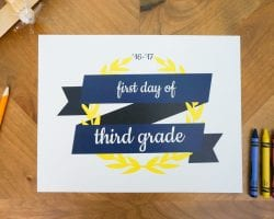 free printable first day of school signs @remodelaholic