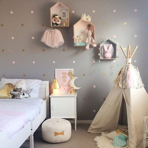 Girls Room for Girl Bedroom Mood Board, Postbox Designs