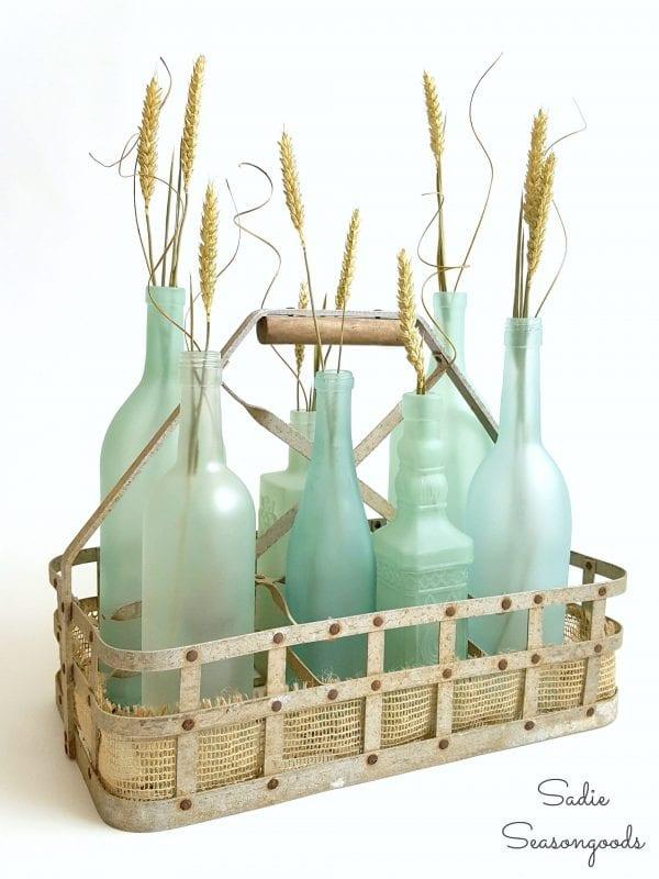 glass bottles upcycled into seaglass, Sadie Seasongoods
