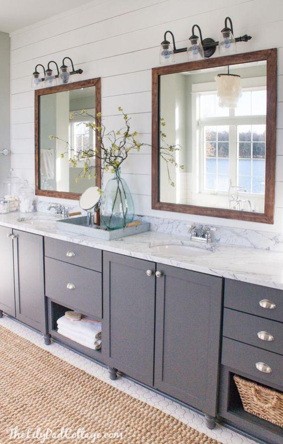 Gray Double Vanity