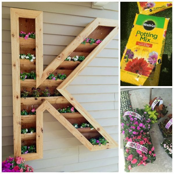 how to build your own large outdoor monogram planter, by Ellery Designs on @Remodelaholic (1)