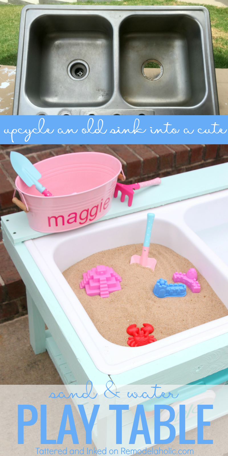 Make A Kids Sand And Water Table For Outdoor Sensory Play From An Old Sink,