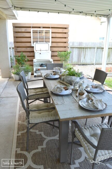 reclaimed wood farmhouse table, Table and Hearth