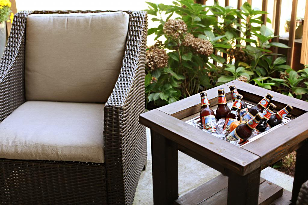 Brilliant DIY Cooler Tables For The Patio