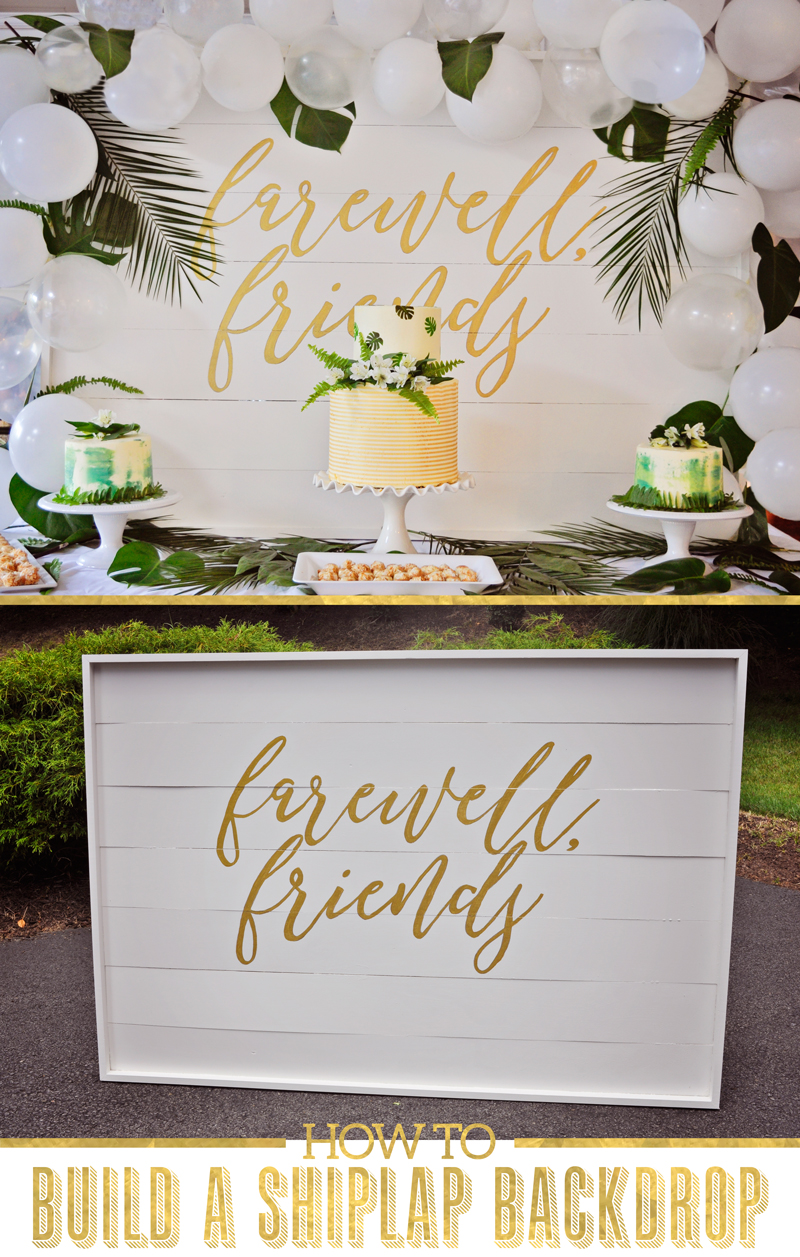 How to build a large DIY shiplap backdrop for photos and parties | Tutorial on Remodelaholic.com