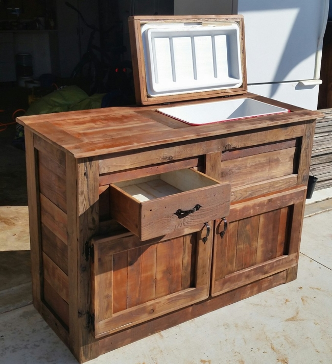 Wooden Tables Storage ~ Remodelaholic brilliant diy cooler tables for the patio