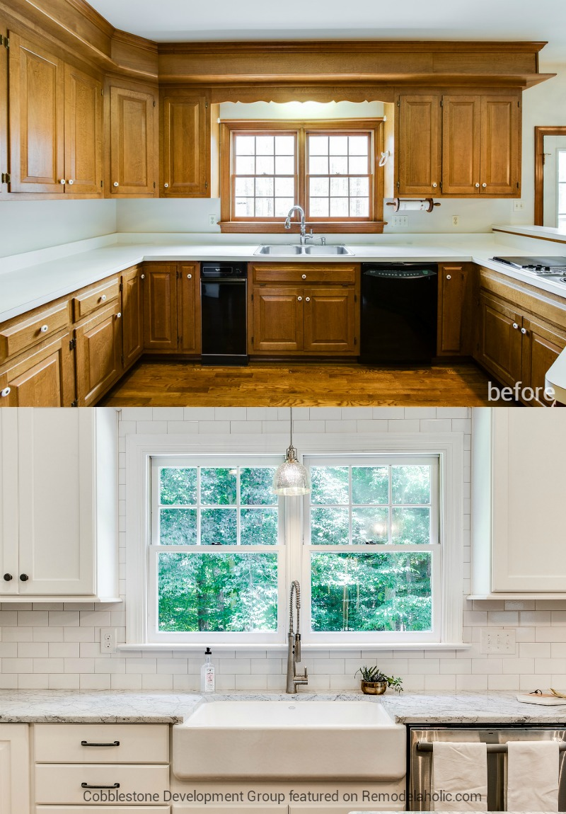 Remodelaholic before after from dated 1980 39 s for Home kitchen renovation