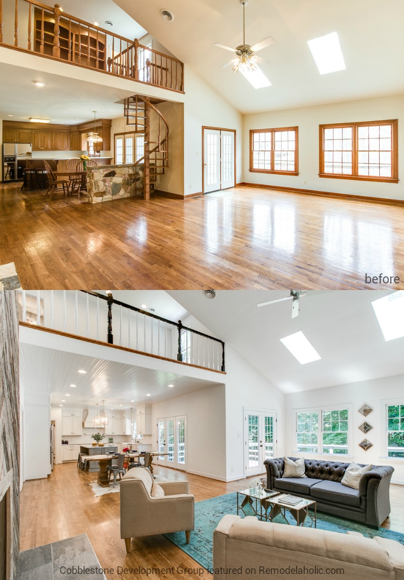 Remodelaholic Before After From Dated 1980 39 S Renovation To Modern Beautiful