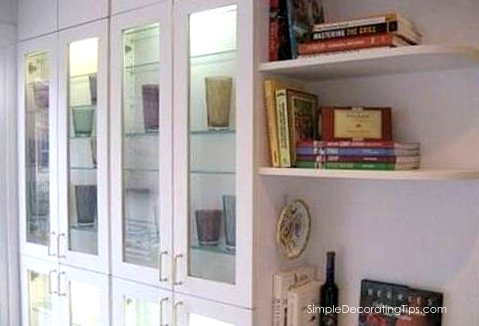 Kitchen remodel, shallow shelves to on-wall pot rack by Simple Decorating Tips featured on @Remodelaholic