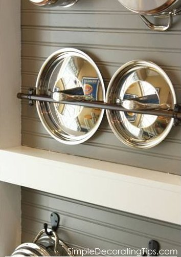How to keep kiitchen cookware organized, a diy project by Simple Decorating Tips featured on @Remodelaholic