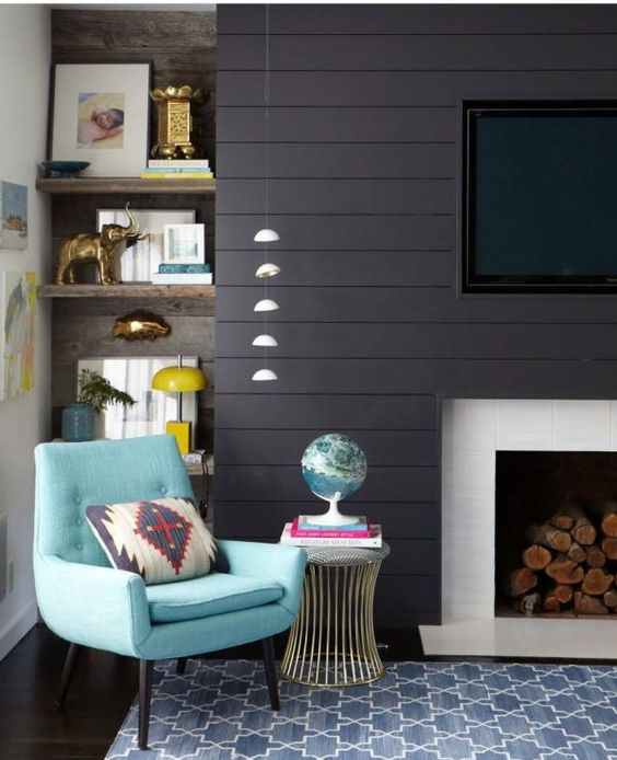 Awkward Alcove Solution: Add floating shelves | More ideas at Remodelaholic.com | Image Source: stylebyemilyhenderson.com