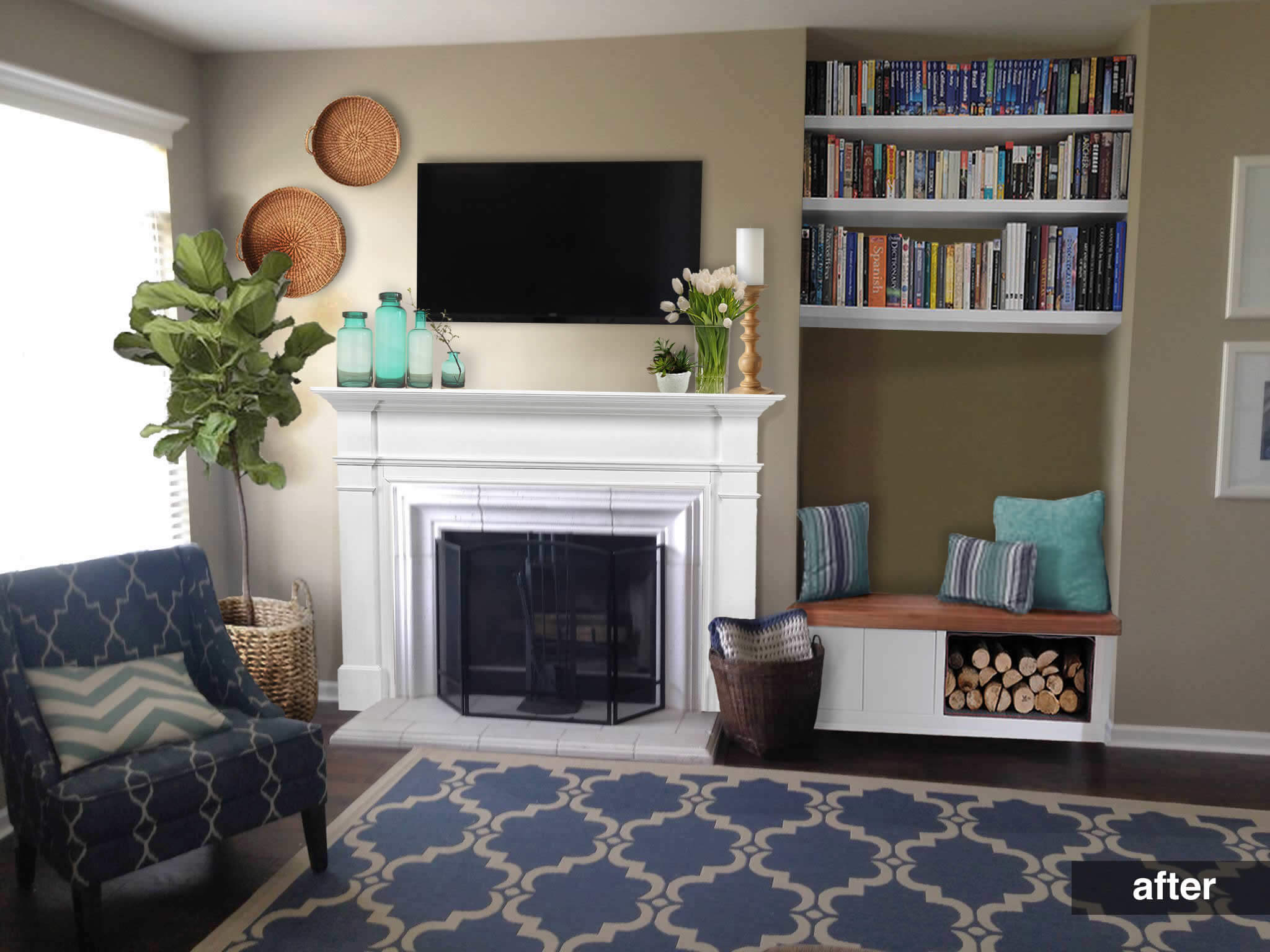 An Awkward Alcove Becomes a Storage Bench • AD Aesthetic for Remodelaholic