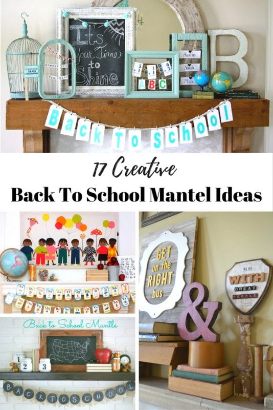 Bring new life to your mantel for back to school with these creative back to school mantel ideas!