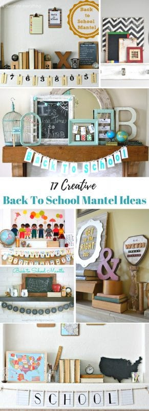 It's August! Get ready to set the mood for back to school by decorating your mantel in style. 17 Back to School Mantel Decorating Ideas via Remodelaholic.com