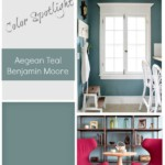 Color Spotlight Aegean Teal From Benjamin Moore. Remodelaholic. 600x739