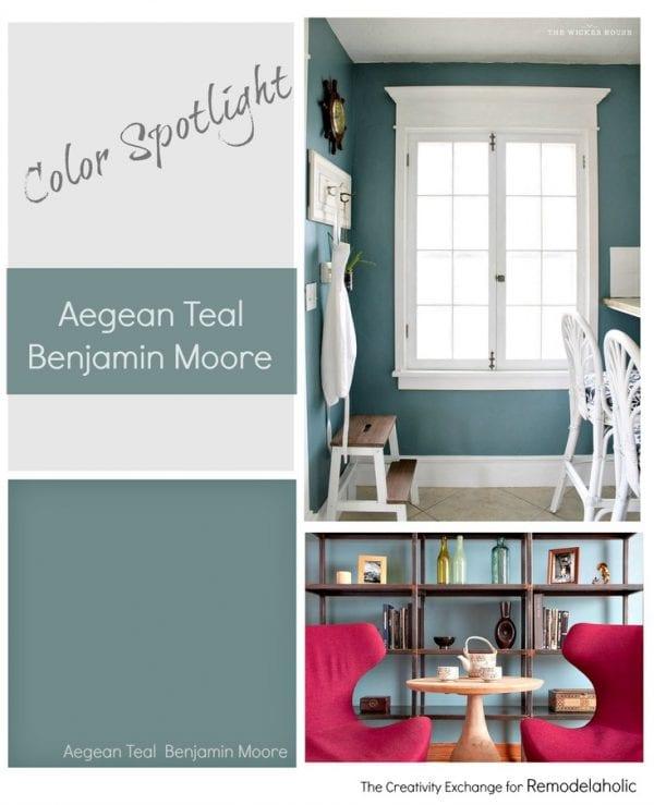 Color Spotlight Aegean Teal from Benjamin Moore. Remodelaholic.
