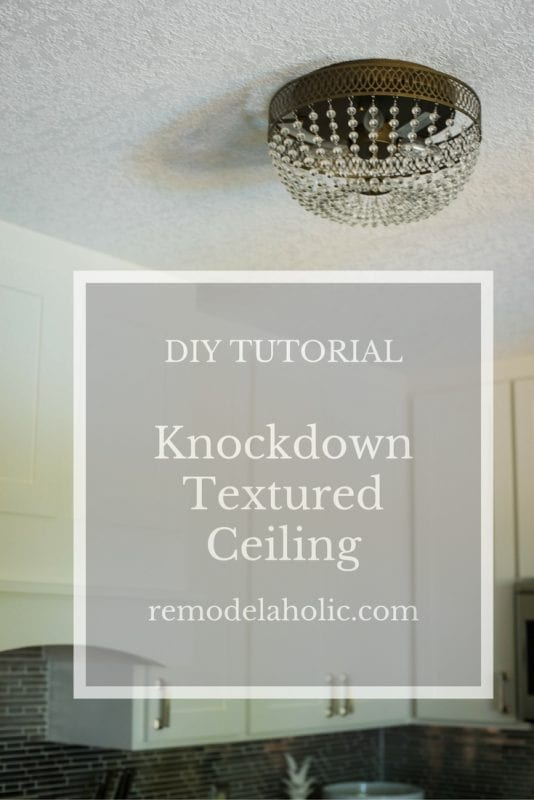 Whether you build new or remove the dated (and dreaded) popcorn ceilings,  you - Remodelaholic How To Apply Knockdown Ceiling Texture